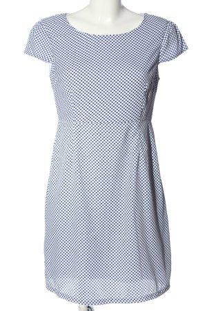 Anonyme Designers Mini Dress blue-white spot pattern casual look