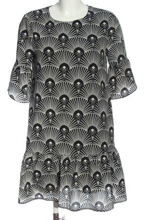 Anonyme Designers Tuniekjurk zwart-wit Patroon-mengeling casual uitstraling