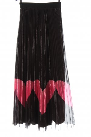 ANONYME Plooirok zwart-roze elegant