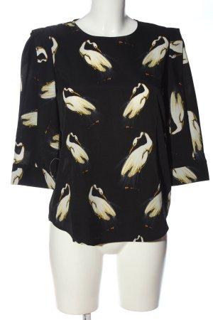 ANONYME Slip-over blouse zwart-wit prints met een thema zakelijke stijl