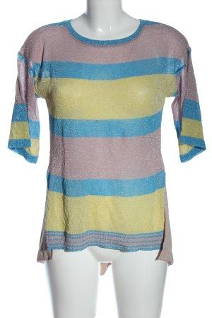 ANONYME Gebreid shirt gestreept patroon casual uitstraling