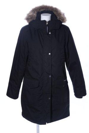 anonymous&famous Veste d'hiver noir style décontracté