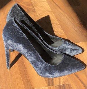 Another A High Heels dark blue velvet