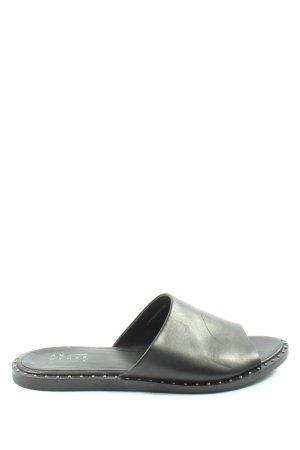 Another A Sandales confort noir style décontracté