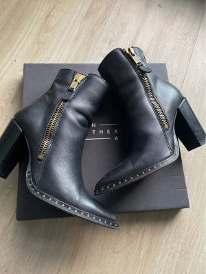 Another A Heel Boots black-gold-colored