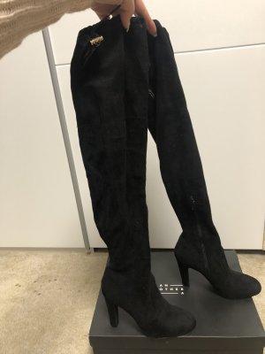 Another A Kniehoge laarzen zwart