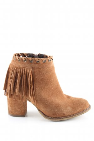 Another A Zipper Booties brown casual look