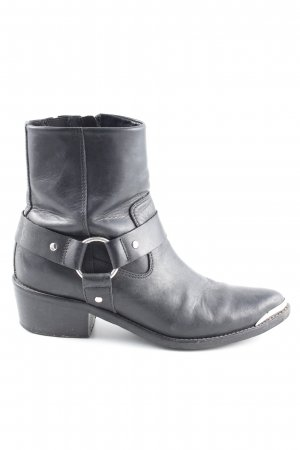 Another A Zipper Booties black casual look