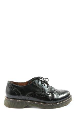 Another A Chaussures à lacets noir style décontracté