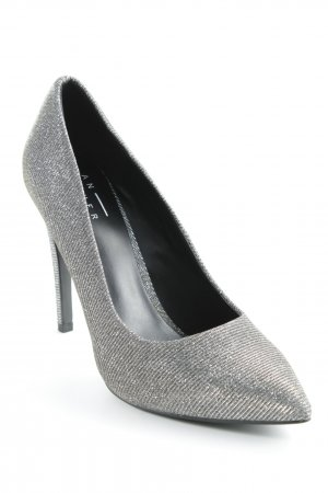 Another A Pointed Toe Pumps black-silver-colored party style