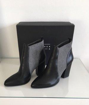 Another A Slip-on laarzen zwart