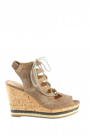 Another A Wedges Sandaletten braun-schwarz Casual-Look