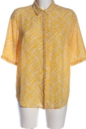 Another Label Chemise à manches courtes orange clair-blanc imprimé allover