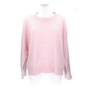 Another Label Sweter z dzianiny jasny różowy