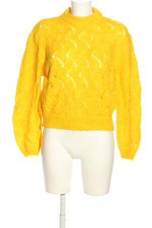 Another Label Pull tricoté jaune primevère style décontracté