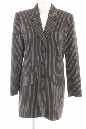 another woman Long Blazer brown-cream striped pattern business style