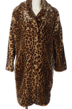 anstatt Cappotto in eco pelliccia bianco sporco-marrone Stampa leopardata