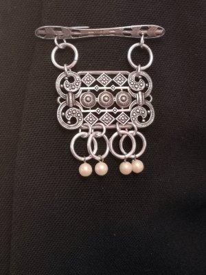 Anstecknadel / Brosche Retro mit Perlen