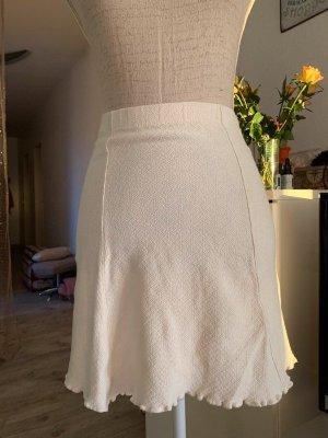 Falda de lana blanco puro-blanco Algodón