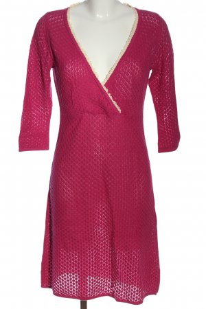 Anthology Avoca Gebreide jurk roze-wolwit casual uitstraling