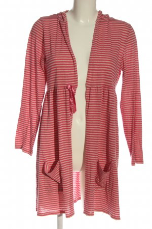 ANTHOLOGY Cardigan bruin-rood gestreept patroon casual uitstraling