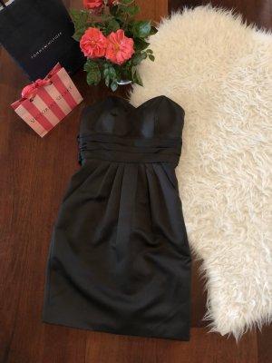 Anthracitefarbendes schulterfreies Kleid von Laona