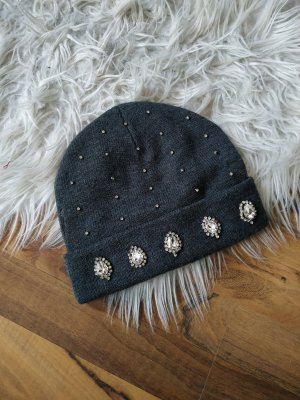 Only Knitted Hat anthracite