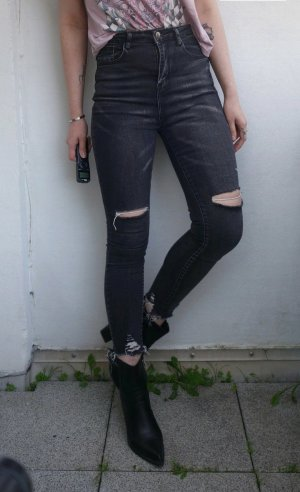 SheIn Stretch jeans zwart-antraciet