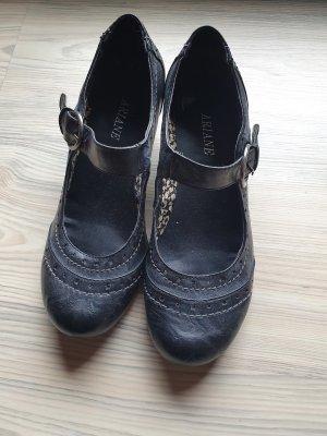 Anthrazitfarbene Sandaletten