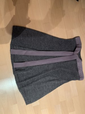 Stefanel Knitted Skirt anthracite-grey lilac