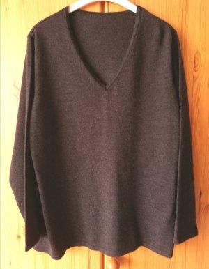 Selection by Ulla Popken Jersey de lana gris oscuro-gris antracita