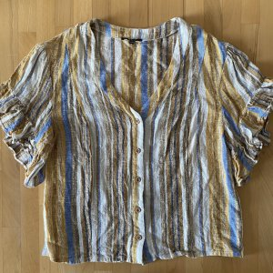 Anthropologie Linen Blouse multicolored linen