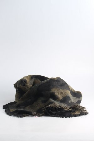 Anthropologie Fringed Scarf camouflage pattern casual look