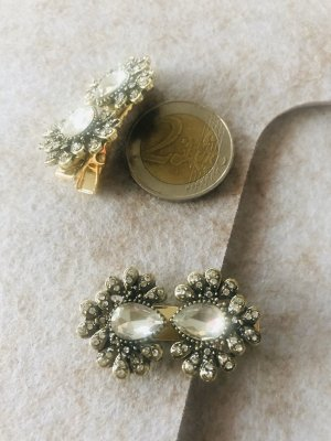 Anthropologie Haarspangen Clips messing gold edel Set 2 Vintage look