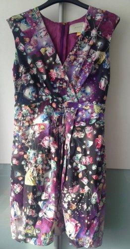 Anthropologie Ołówkowa sukienka fiolet-biały