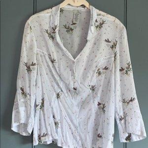 Anthropologie Zijden blouse azuur