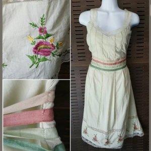 Anthropologie Sukienka midi bladozielony-limonkowy żółty Bawełna