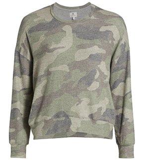 Anthropologie Bluza dresowa szaro-zielony-khaki