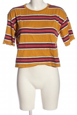 Anti Blue Cropped Shirt striped pattern casual look