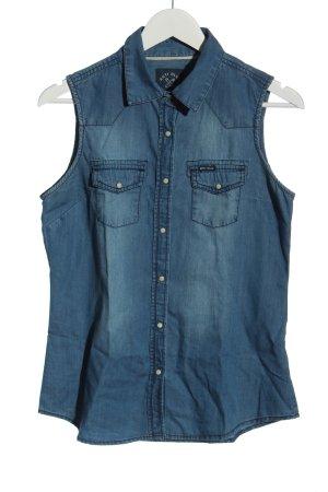 Anti Blue Gilet en jean bleu style décontracté
