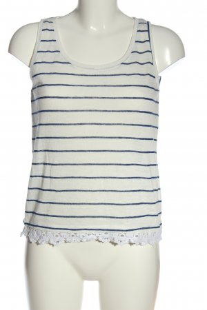 Anti Blue Rugloze top wit-blauw casual uitstraling