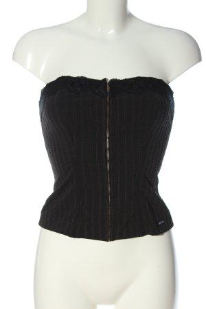 Anti-Flirt Collection Hauts épaule nues noir motif rayé style décontracté