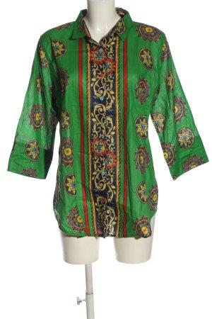 Antica Santoria Koszulowa bluzka Abstrakcyjny wzór W stylu casual