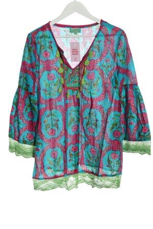 Antica Santoria Bluzka tunika Na całej powierzchni W stylu casual