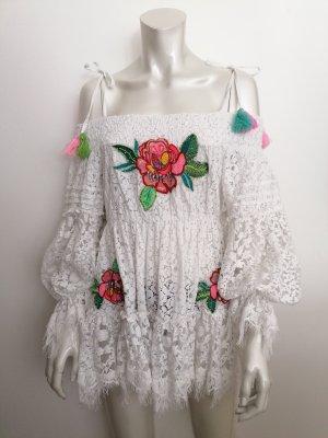 Antica Sartoria Lace Dress white cotton