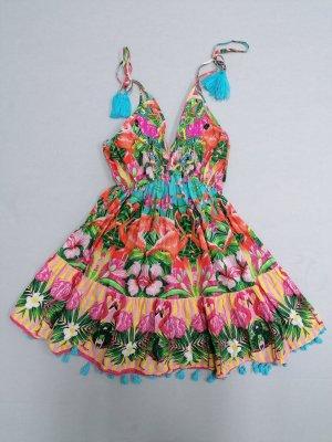 Antica Sartoria, kurzes Kleid, Sizilien, Ibiza, boho, one size