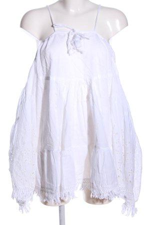 Antica Sartoria Schlupf-Bluse weiß Casual-Look