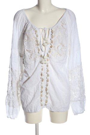 Antica Sartoria Koronkowa bluzka biały W stylu casual