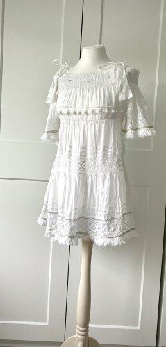 Antica Sartoria Strandkleid weiß Tunika Minikleid Gr 36 S