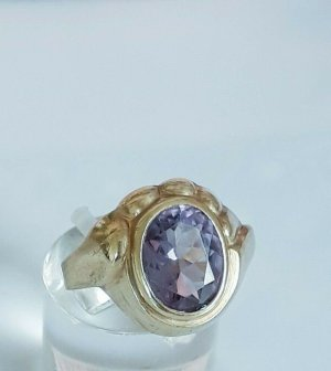 Antik 333 Gold Ring Amethyst Edelstein